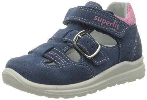 Superfit Baby Mädchen Mel Sandalen, Blau (Blau/Rosa 82), 21 EU