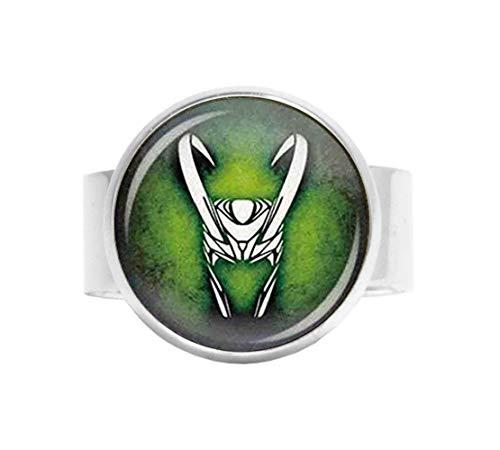 Anello in vetro di HE PING Art, Loki dio del Mischief anello dio del male, Loki Jewelry
