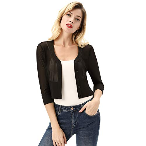 KANCY KOLE dames 3/4 mouwen licht transparant mesh blouse body t-shirt tops KCS02072