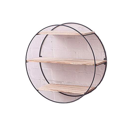 Liefde lamp Multipurpose Plank Ronde Muur IJzeren Wandplank Beugel Art Houten Muur Industriële Stijl Houten Metalen Wandplank Opslag Decoratie Home Decoratie - Ronde Huishoudelijke Items