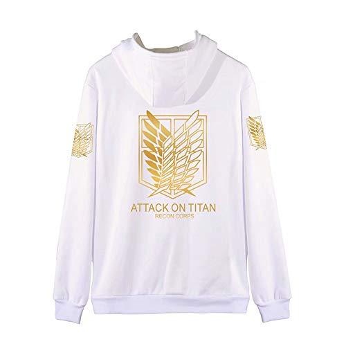 Attack on Titan 3D Cartoon Anime Zipper Hoodie Unisexe Hommes Manches Longues Pull Hoodie Shingeki Kyojin Légion Scoutisme Cosplay Costume Vestes Manteau Hoodies