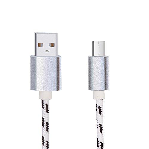 Lunasol Home 1M USB Tipo C Cable para Blackview BV8000 Pro / BV9000 / BV9000 Pro / BV9500 / BV9600 / P10000 Pro Mòvil Resistente, Nylon Trenzado Carga Ràpida Cable