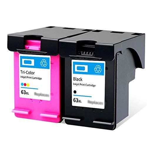 Cartucho de tinta 63XL, adecuado para HP 2130 3630 3830, se adapta a 4520 4650 impresora con chip, compatibilidad fuerte, 600 páginas