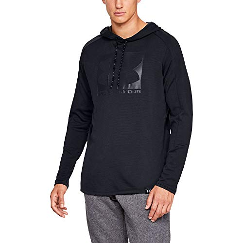 Under Armour Herren Lighter Longer PO Hoodie Oberteil, Schwarz, SM