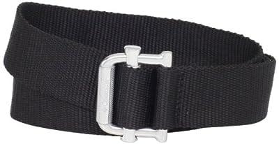 Columbia Tactical Nylon Belt Adjustable Belt Strap with Metal Buckle, Black, Large