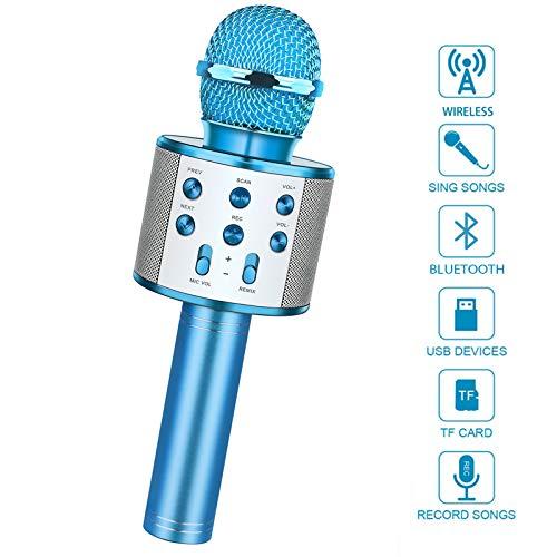LetsGO toyz Spielzeug ab 5-13 Jahre Mädchen, Karaoke Mikrofon Kinder Geschenke Jungen 4-13 Jahre Geburtstagsgeschenk Spielzeug für Jungen Mädchen 4 5 6 7 8 9 10 11 12 13 Jahren