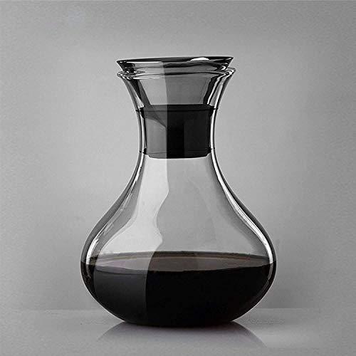 Copas de cóctel, Dispensador de Botellas de Licor Cristal Whisky Decanter Barrel Whisky Decanter Conjunto con tapón de Acero Inoxidable Decoración de Oficina para Hombre Licor Decanter Whiskey Set de