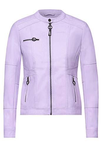 Cecil Damen Kunstleder-Jacke aus PU chalked Violet XXL