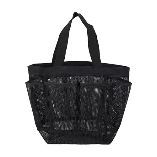 Strandtasche Netz-Strandtasche Netztasche Faltbare Badetasche Sommer Reisetasche Strand Aufbewahrungstasche Handtaschen Tragbare Picknicktaschen Spielzeugtasche Sandspielzeug für Familie Urlaub