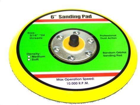 "(Best tools) 6"" HOOK & LOOP SANDING PAD FOR DA SANDER PALM ORBITAL DUAL ACTION SANDER RANDOM"