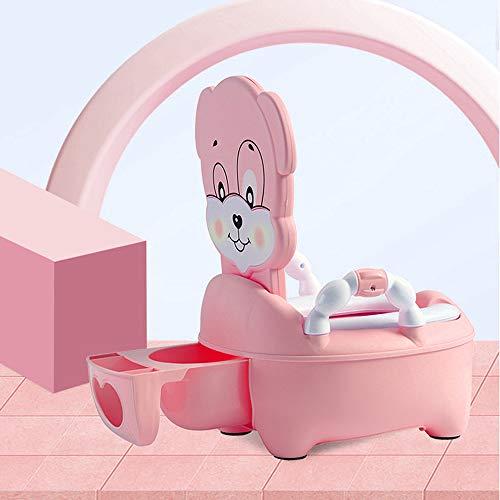 Vinteky Apprendimento vasino per bambini vasino per bambini con schienale alto e maniglia (Rosa)
