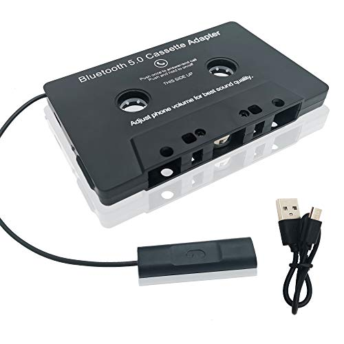 Audio Bluetooth Cassette Receiver,Tape Player Bluetooth 5.0 Cassette to Aux Adapter, Cassette Adapter for Car