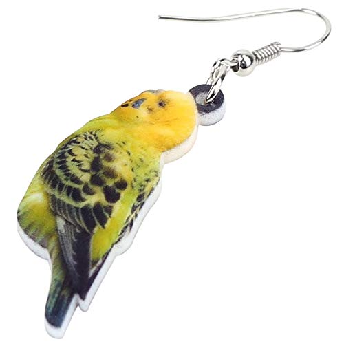 XUBB Acryl Wellensittich Papagei Vogel Ohrringe Big Long Drop Dschungel Tierschmuck für Frauen Mädchen Zubehör
