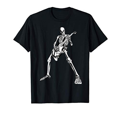 skeleton playing guitar electric Acoustic Classical T-Shirt