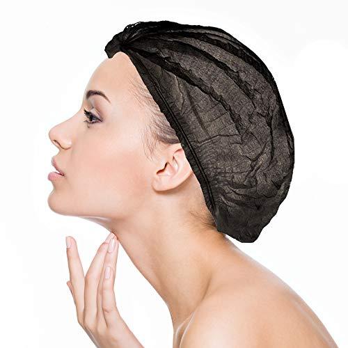 Charlotte Einweg-Schwarz: Ästhetischer Haarschutz - Medizin, Restauration, Lebensmittelindustrie, Industrie, Schönheit, Virtuelle Realität (VR Brillen), Fahrräder - Govark (100er-Set)