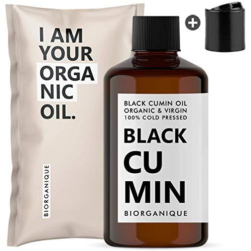 Huile de Nigelle BIO | 100% Pure, Pressée à froid & Naturelle - 50 ml - Soin pour Cheveux, Cuir chevelu, Cou, corps, Peau