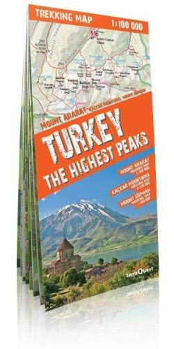 Picos de Turquía: Ararat, Kaçkar, Süphan. Escala 1:100.000. Mapa excursionista plastificado. terraQuest. (trekking map)