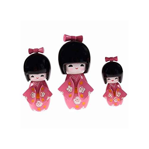 3 muñecas japonesas Kokeshis – Ayako Amour Sentiments – Decoración Japonesa