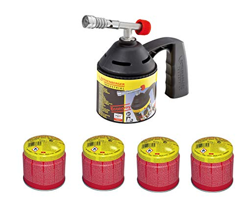 ROTHENBERGER Industrial Lötlampen Set ECO inkl. 4 Gaskartuschen - 1000000982