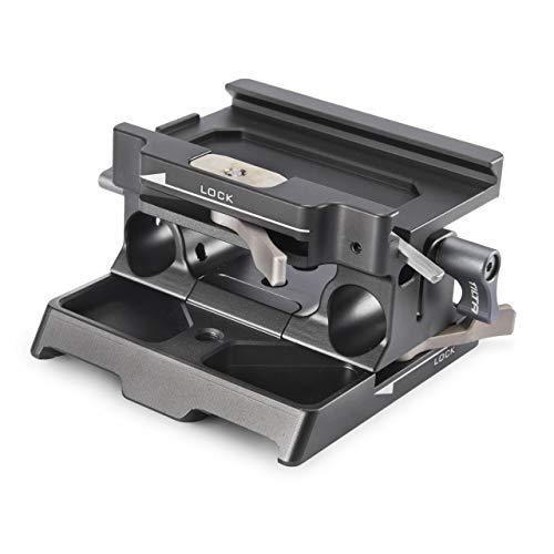 (Tilta Gray) TILTA TA-BSP-15-G 15mm LWS Baseplate Grundplatte Kompatibel mit TILTA BMPCC 4K / Z CAM E2 / S1H Käfig Cage Blackmagic Pocket Cinema Camera 4K Rig