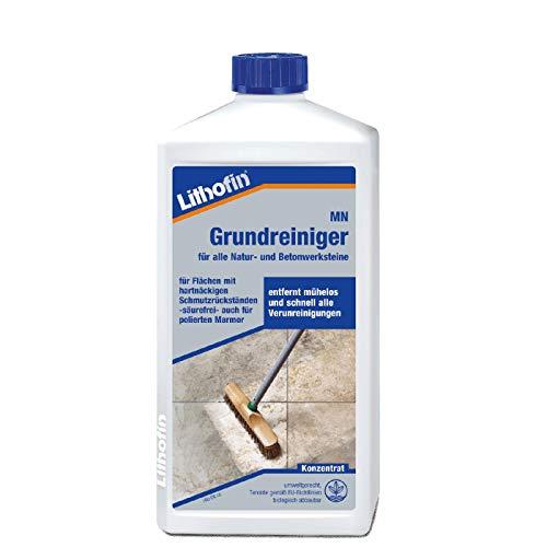 Lithofin MN Grundreiniger Konzentrat für Bodenbeläge, Marmor und Kalkstein stark wirkend bei fettigen Verunreinigungen Säurefrei 1 L