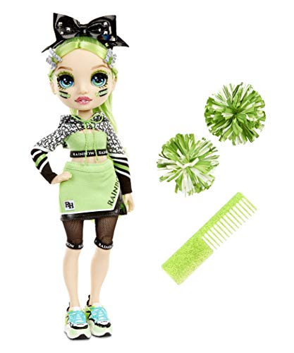 Rainbow High Cheer Jade Hunter – Green Cheerleader Fashion Doll with 2 Pom Poms and Doll Accessories, Great Gift for Kids 6-12 Years Old