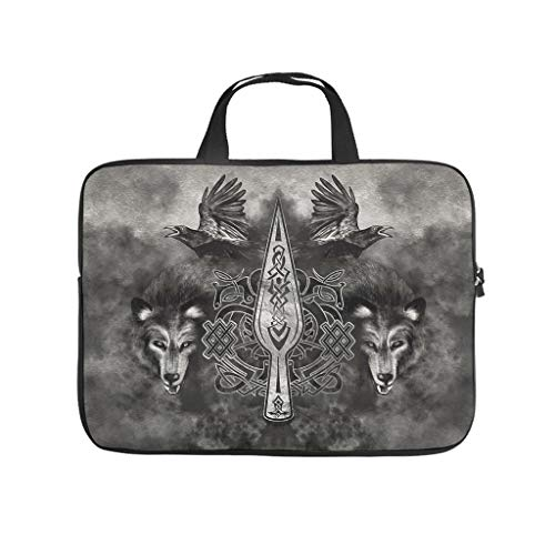 Water Resistant Viking Gungnir Spear of Odin Laptop Sleeve Carry On Handle Case - for Notebook White 13 Zoll