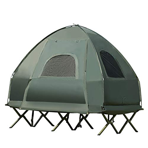 Costway Tente de Camping Surélevée 2 Personnes...