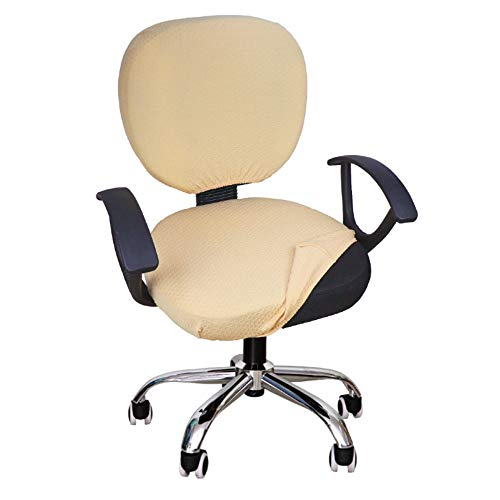 YIMEIS Waterproof Office Chair Cover, Stretch Jacquard Computer Office Chair Covers Water Repellency...
