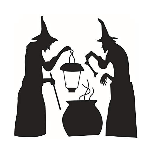 Amiispe Decoración de Halloween Etiqueta de la Pared patrón de caldero de Bruja para Sala de Estar habitación de niños Dormitorio Pasillo Puerta Ventana Tema de Halloween