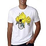 Miwaimao Estudiante Adolescente Camiseta Hombres Limón Bicicleta Patrón Casual y Cómodo Elástica Transpirable Verano Ropa Deportiva Niños