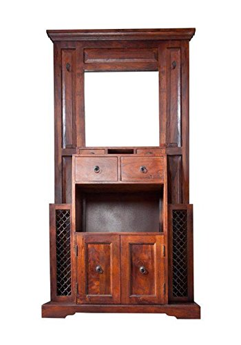 MASSIVMOEBEL24.DE Kolonialstil Garderobe Akazie Holz massiv Oxford #442
