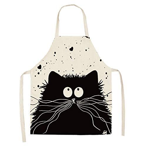 YCBHD 1 stuk keukenschort grappige kat bedrukt katoen mouwloos ondergoed heren dames Home Cleaning Tools huis / keuken 2wq Wq0029 4