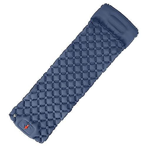 Famlhewo Camping Sleeping Pad - Mat,190585cm, Ultralight 14.5 OZ, Best Sleep Mattress for Backpacking, Traveling, Hiking, Durable Waterproof Air Mattress Compact Ultralight Hiking Pad (Navy)