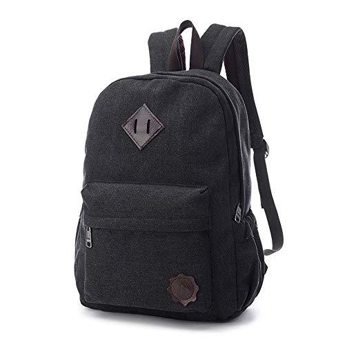 Vinteen The New Retro Canvas Backpack High Capacity Junior High College Students School Bag Korean Version Male Leisure Travel Backpack Laptop Bag Shoulder Bag (Color : C)