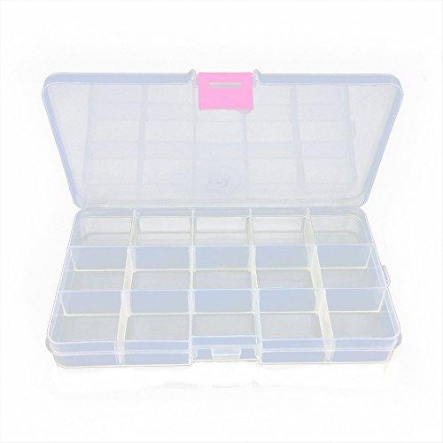 MMLC Lure Box Perlenbox, Sortierkasten Sortierkiste Sortimentskasten Sortierbox auch perfekt für Loom Gummis. Trennwände variabel! (White)