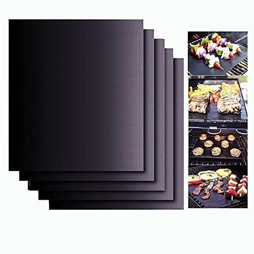 Dauerbackfolie Backfolie für Backofen 40x33cm (5er Set) Grillmatte enthält kein PFOA-Teflon-PTFE-Antihaftmaterial in Lebensmittelqualität, gemäß FDA-Standards, hohe Temperaturbeständigkeit 260 °