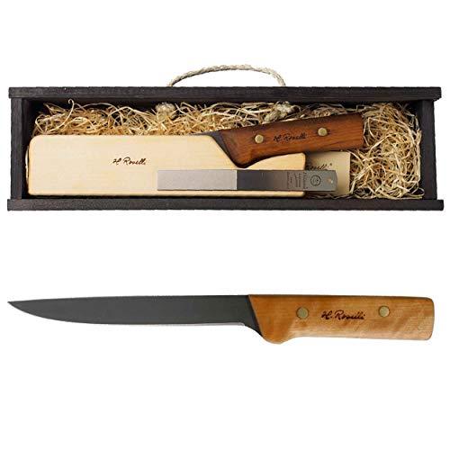 Roselli Filetiermesser 17cm UHC Astrid in Geschenkbox RW757P mit Prymo Klingenöl Finnland Messer