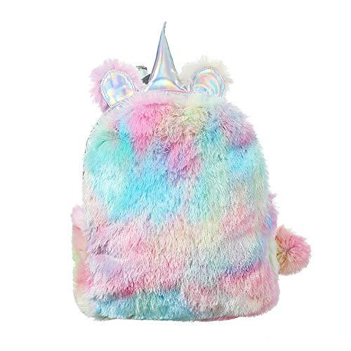 HCFKJ👜 Tasche, Frauen-Mädchen-Schlag-Farben-Rucksack-Student-Normallack-Reise-Schulcrossbody-Tasche (One Size, Multicolor)