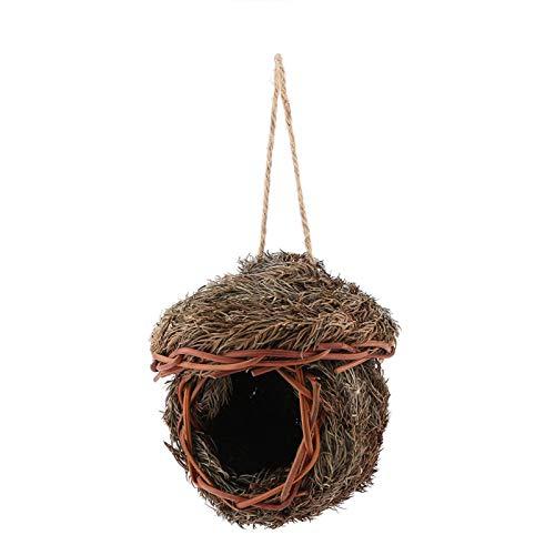 Birds Papegoja Nest, Handgjord vävd Bird Nest Cage för Papegoja Hamster Små husdjur Djur Bur Hemhängande dekor