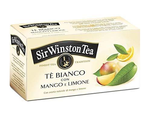 Sir Wiston Tea Tè Bianco Aromatizzato con Mango e Limone - 1 x 20 Bustine di Tè (25 Grammi)