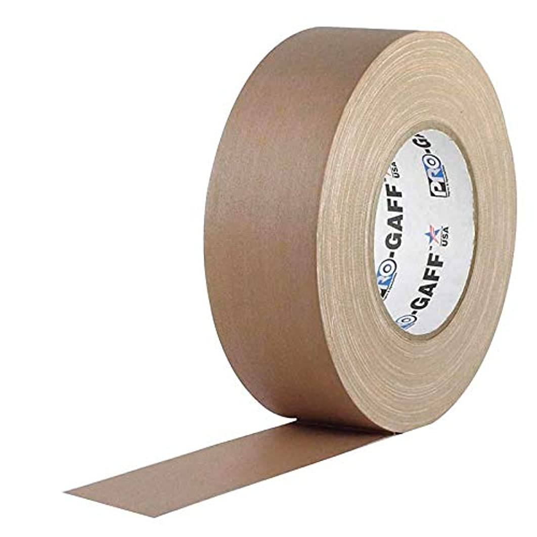 Pro Gaff/Gaffers Tape .5, 1, 2, 3, 4 Inch Widths X Variable Lengths, 2 Inch, Tan/Beige