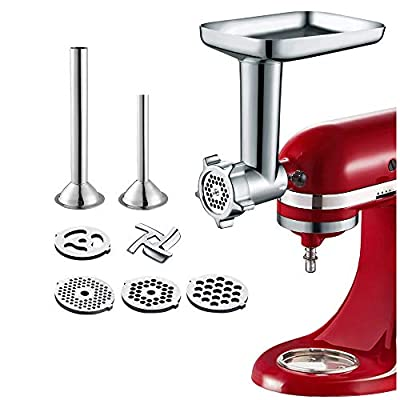 Gvode Food Meat Grinder Attachment for KitchenAid Stand Mixers