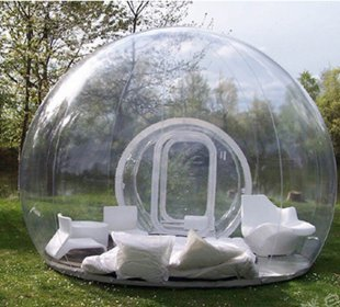 BubbleU24(TM) Mobile Inflatable Bubble Tent With One Tunnel Family Camping Tent (196inches)