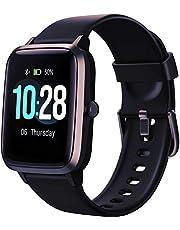 Smartwatch voor dames en heren, smart watches voor kinderen, smartwatch met touchscreen, waterdicht, sport, stappenteller, cardio-horloge, vibrerend, fitnesstracker, wandelen, hardlopen