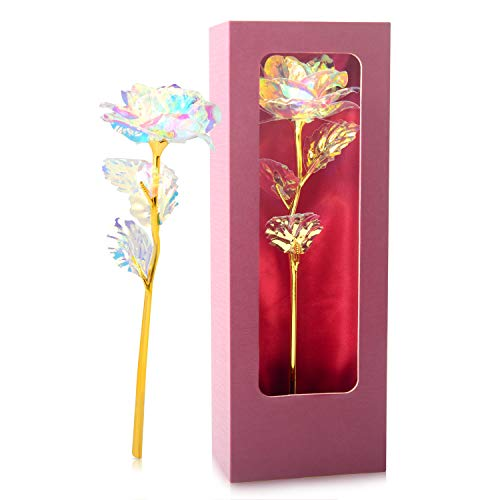 JOBOSI Rose,Gifts for mom, Gifts for Girl Friend, Gifts for Wife, Rose Flower Present Gift Box Great Gift Idea for Valentine's Day, Mother's Day, Thanksgiving Day, Christmas, Birthday,Anniversary Silk Flower Arrangements