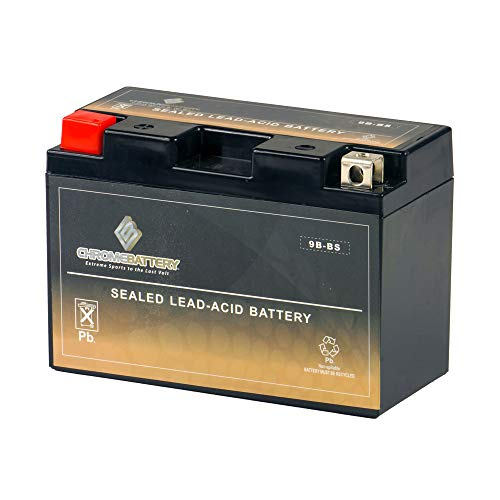 Rechargeable 9B-BS High Performance - Maintenance Free - Replacement Sealed AGM Motorcycle Battery