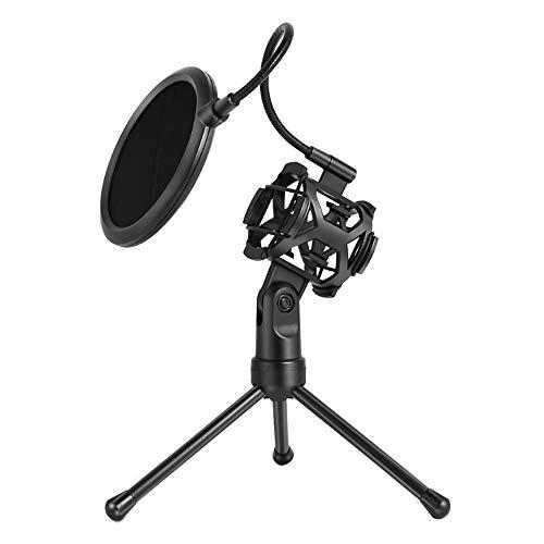 Opvouwbaar microfoonstatief, universele microfoonstandaard Desktop-microfoonhouder Shock Mount Pop-filter voor online-uitzendingen Chatten Zingen