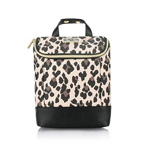 Itzy Ritzy Insulated Bottle Bag – Keeps Bottles Warm or Cool - Holds 3 Bottles & Features Interior Pocket for Ice Pack (Not Included), Leopard