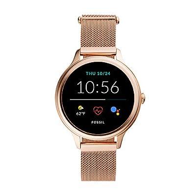 New Fossil Women's 42MM Gen 5E Stainless Steel Mesh Touchscreen Smart Watch, Color: Rose Gold (Model: FTW6068)
